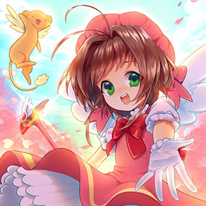 A bright and happy piece honoring an all-time classic anime and iconic magical girl, Cardcaptor Sakura.