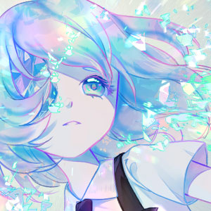My favorite gemstone character from the anime, Houseki no Kuni, or Land of the Lustrous. The gems are so beautiful when they break.