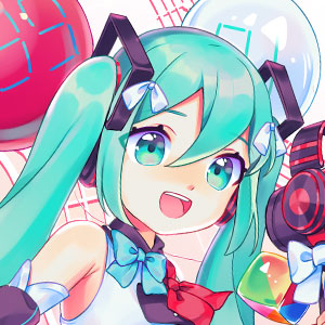 Hatsune Miku in her Miku 39 2018 outfit designed by Mika Pikazo.