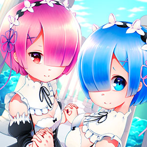 I've improved a lot since I made this piece, but I still love it a lot! This picture features the demon twins, Rem and Ram, from the anime series