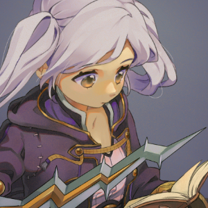 Painting featuring female Robin from Fire Emblem, or Super Smash Brothers.
