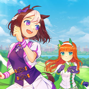 My tribute to the super cute anime featuring horse girls racing, singing, and doing their absolute best: Uma Musume Pretty Derby! I absolutely love the devotion that Special Week and Silence Suzuka share with each other in their friendship and wanted to draw them racing each other.